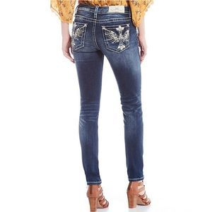 Miss Me Hailey Embellished Wing Cross Skinny Jeans